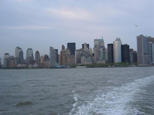 Dél-Manhattan a Staten Island Ferryről
