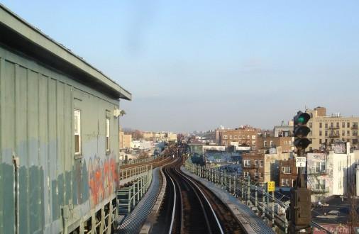 New York Subway a szabadban